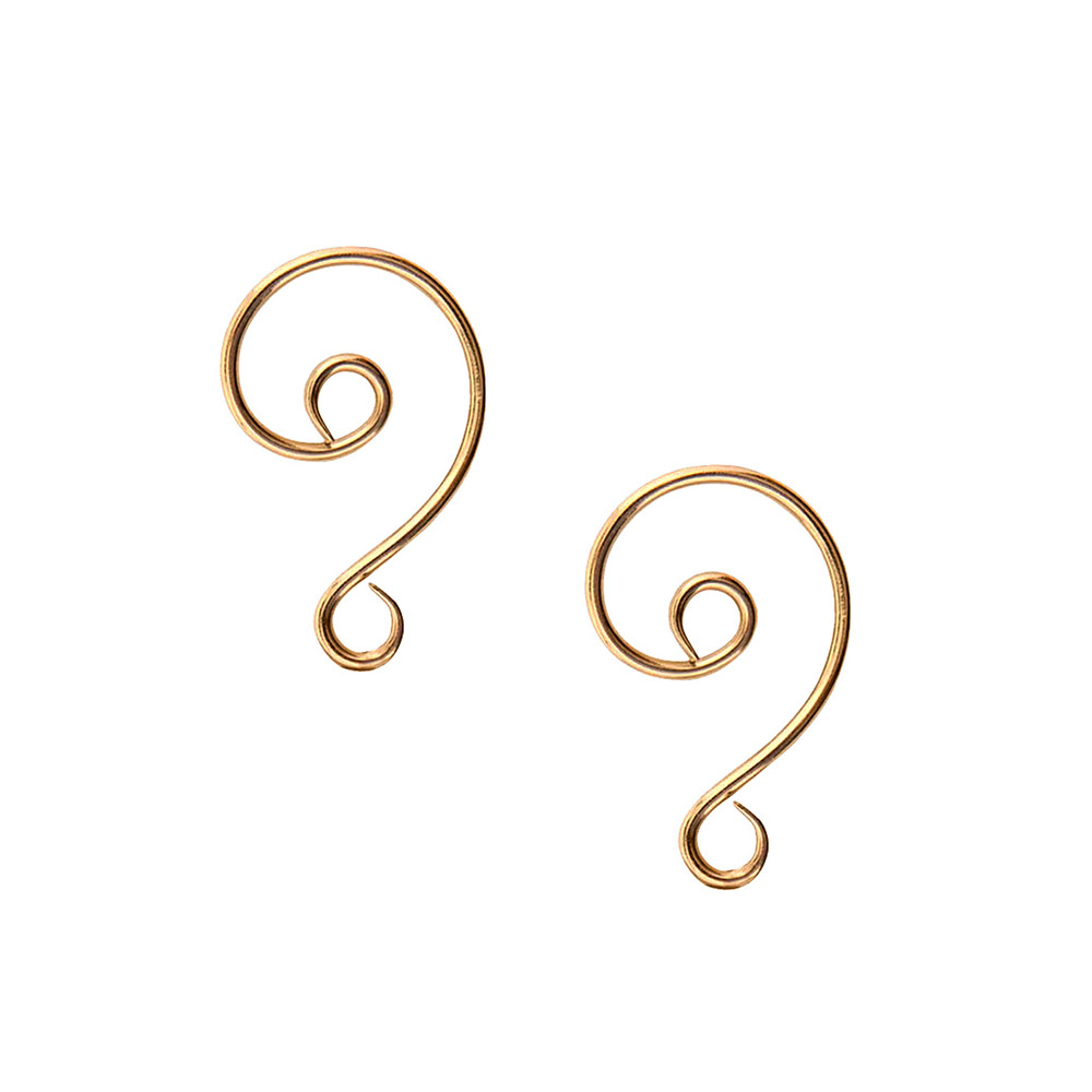 Buy & Try Findings Ornament Hook SwirlAntique Gold
