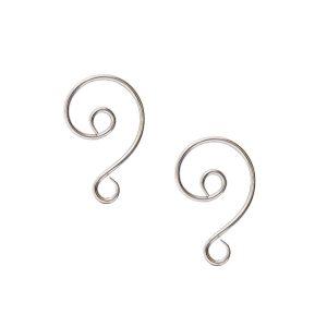 Buy & Try Findings Ornament Hook SwirlAntique Silver