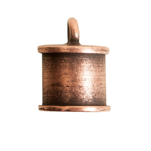 End Cap Channel 7mm Single LoopAntique Copper