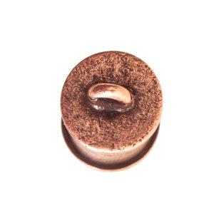 End Cap Channel 7mm Single LoopAntique Copper