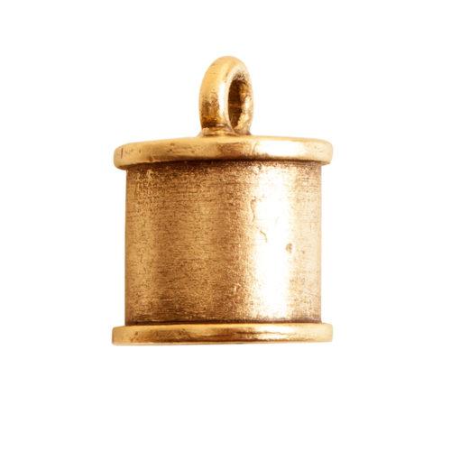 End Cap Channel 7mm Single LoopAntique Gold