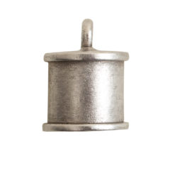 End Cap Channel 7mm Single LoopAntique Silver
