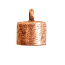 End Cap Plain 7mm Single LoopAntique Copper