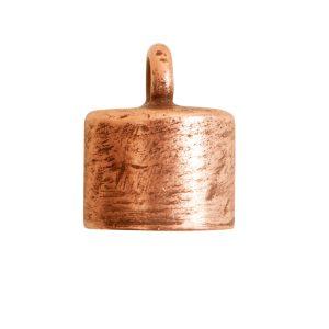 End Cap Plain 7mm Single LoopAntique Copper