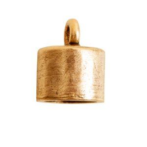 End Cap Plain 7mm Single LoopAntique Gold