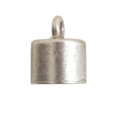 End Cap Plain 7mm Single LoopAntique Silver