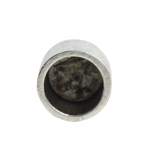 End Cap Plain 7mm Single LoopAntique Silver