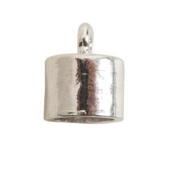 End Cap Plain 7mm Single LoopSterling Silver Plate
