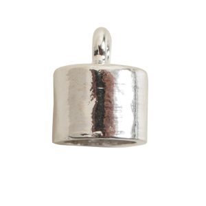 End Cap Plain 7mm Single LoopSterling Silver Plate