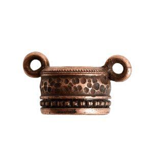 Tassel Top Ornate 9mm Double LoopAntique Copper