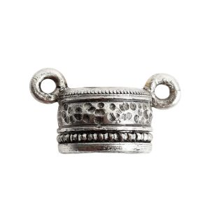 Tassel Top Ornate 9mm Double LoopAntique Silver