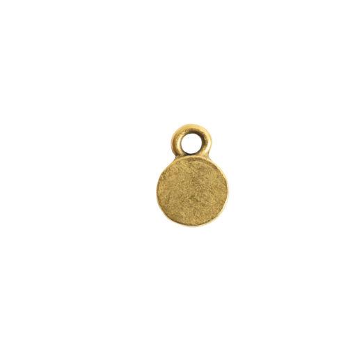 Bitsy Bezel Circle Single LoopAntique Gold