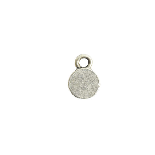 Bitsy Bezel Circle Single LoopAntique Silver