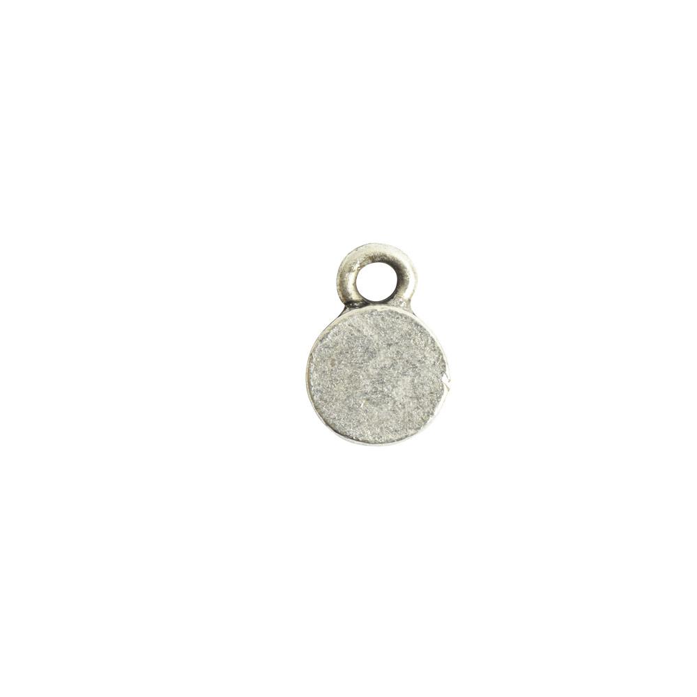 Bitsy Bezel Circle Single LoopAntique Silver