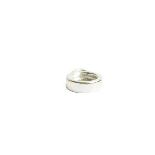 Bitsy Bezel Circle Single LoopSterling Silver Plate
