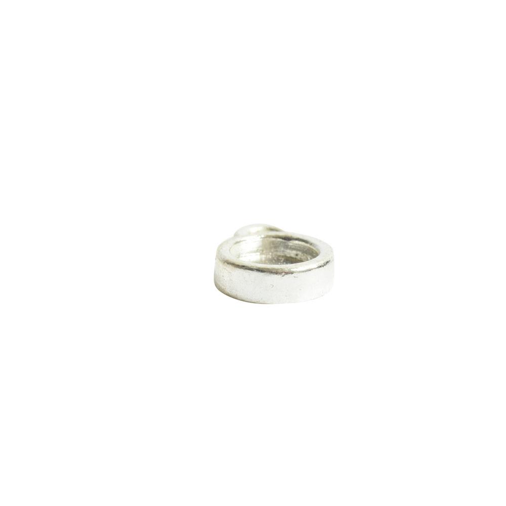 Bitsy Bezel Circle Single LoopSterling Silver Plate