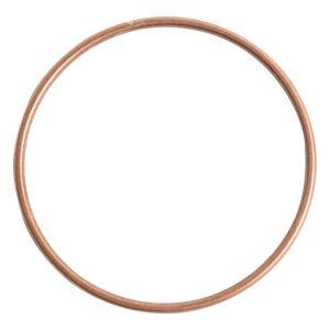 Bangle Bracelet Round 10 gauge x 2.5 Inch DiameterAntique Copper