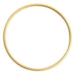 Bangle Bracelet Round 10 gauge x 2.5 Inch DiameterAntique Gold