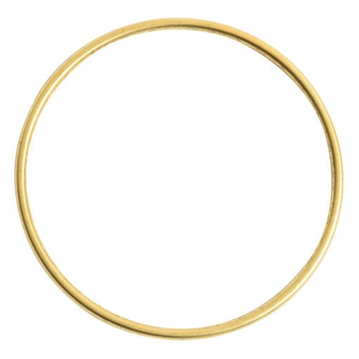 Bangle Bracelet Round 10 gauge x 2.5 Inch DiameterAntique Gold