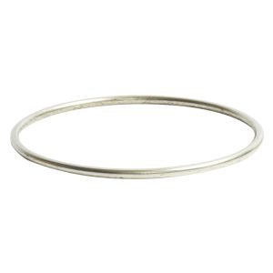 Bangle Bracelet Round 10 gauge x 2.5 Inch DiameterAntique Silver