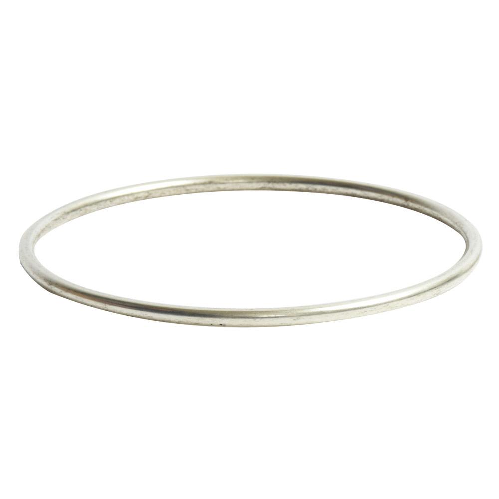 Bangle Bracelet Round 10 gauge x 2.5 Inch DiameterAntique Silver
