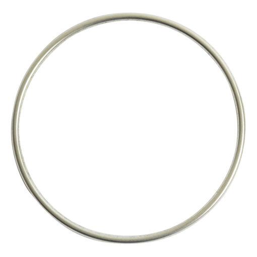 Bangle Bracelet Round 10 gauge x 2.5 Inch DiameterSterling Silver Plate