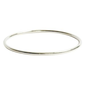 Bangle Bracelet Round 10 gauge x 2.5 Inch DiameterSterling Silver Plate