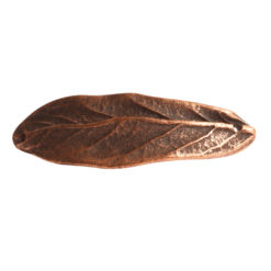 Bracelet Link Large Leaf Double HoleAntique Copper