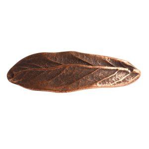 Bracelet Link Large Leaf Double HoleAntique Copper