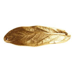 Bracelet Link Large Leaf Double HoleAntique Gold