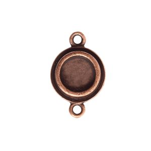 Classic Deep Pendant Itsy Circle Double LoopAntique Copper