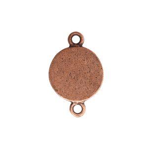 Classic Deep Pendant Itsy Circle Double LoopAntique Copper