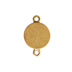 Classic Deep Pendant Itsy Circle Double LoopAntique Gold