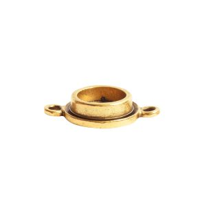 Classic Deep Pendant Itsy Circle Double Loop<br>Antique Gold