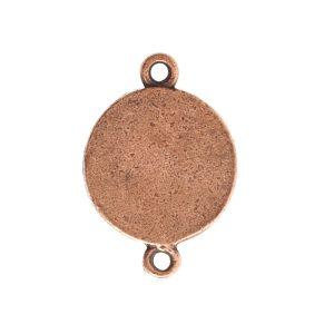 Classic Deep Pendant Mini Circle Double LoopAntique Copper