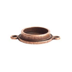 Classic Deep Pendant Mini Circle Double Loop<br>Antique Copper
