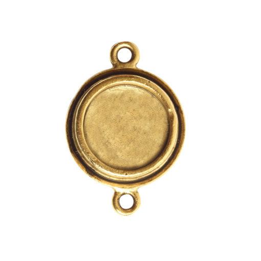 Classic Deep Pendant Mini Circle Double LoopAntique Gold