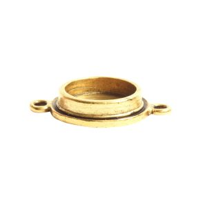 Classic Deep Pendant Mini Circle Double Loop<br>Antique Gold