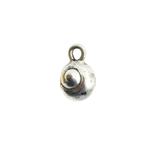 Charm Itsy Sea SnailAntique Silver
