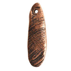 Charm Organic Mussel ShellAntique Copper