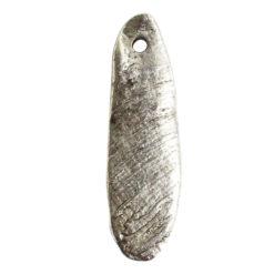 Charm Organic Mussel ShellAntique Silver