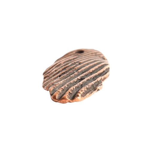 Charm Organic Scallop ShellAntique Copper
