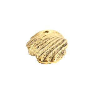 Charm Organic Scallop Shell<br>Antique Gold