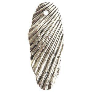 Charm Organic Scallop ShellAntique Silver