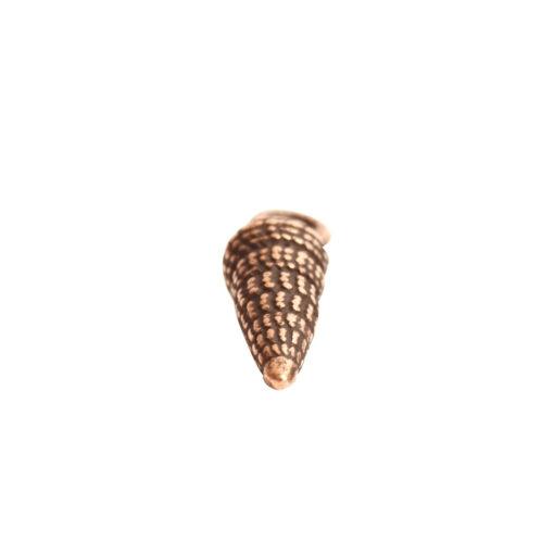 Charm Small Turret ShellAntique Copper