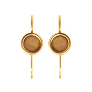 Earring Wire 6mm CircleAntique Gold