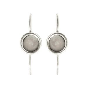 Earring Wire 6mm Circle<br>Antique Silver