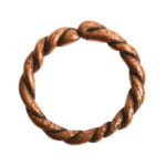 Hoop Twisted LargeAntique Copper