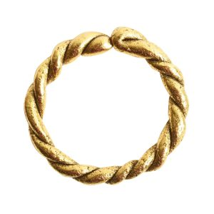 Hoop Twisted LargeAntique Gold
