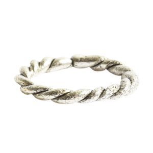 Hoop Twisted Large<br>Antique Silver